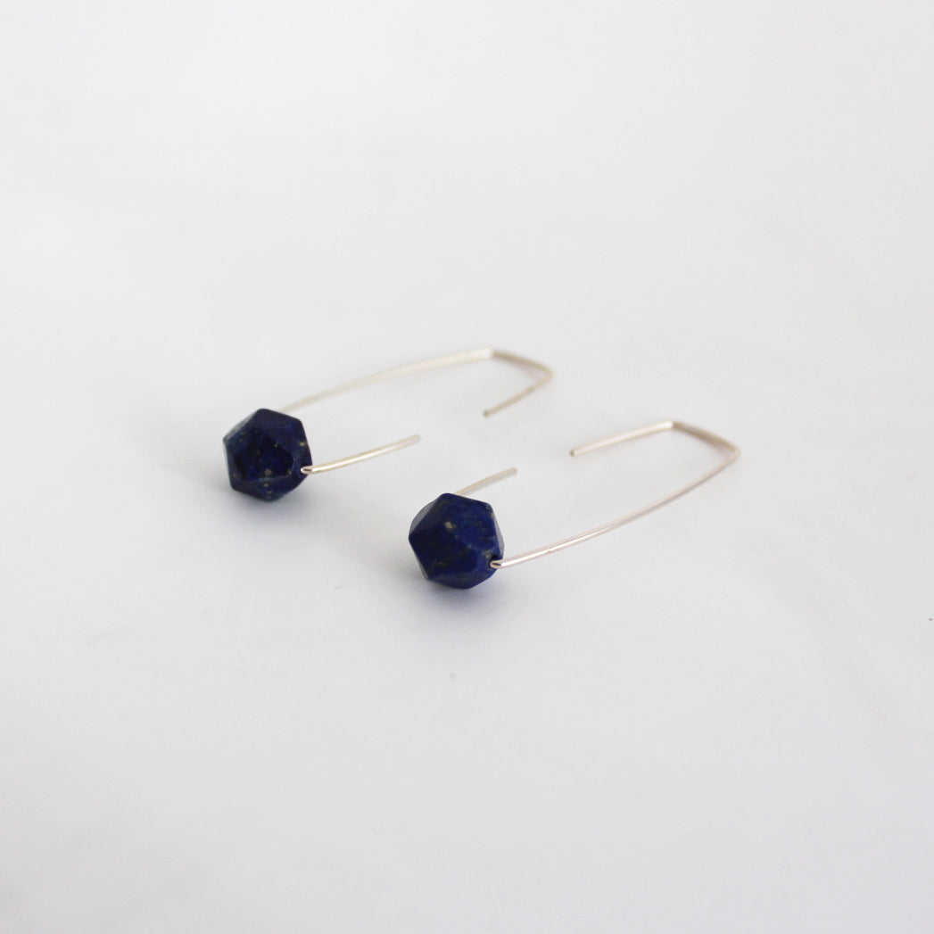 Lapis lazuli Staple earrings