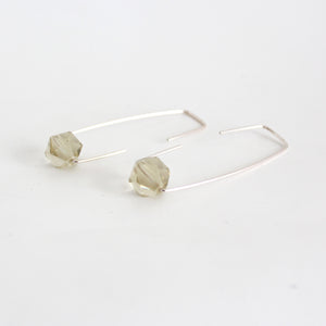 Lemon quartz Staple earrings