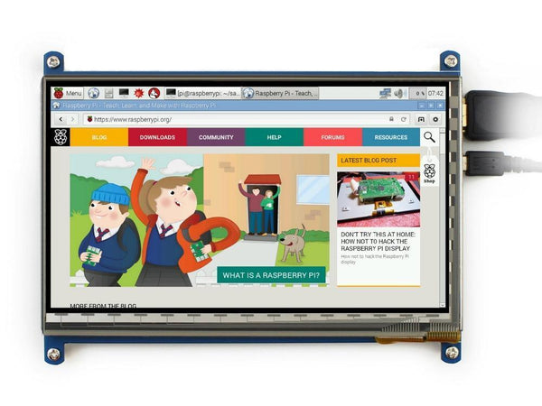 7 Inch Raspberry Pi 3 Touch Screen 1024*600 7 Inch Capacitive Touch Screen Lcd, Hdmi Interface, Supports Various Systems-DIGDU-DIGDU