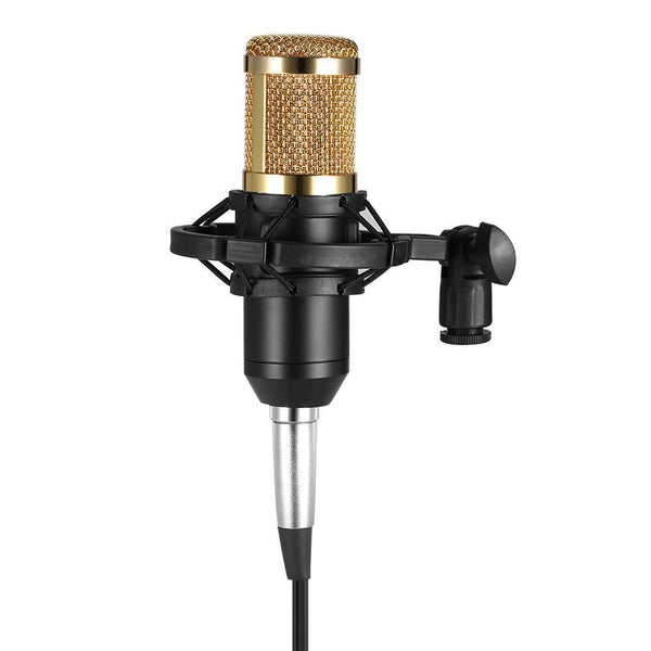 Bm800 Condenser Microphone Studio Sound Recording Broadcasting With Shock Mount 3.5Mm Audio Cable Sponge Microphone-DIGDU-DIGDU