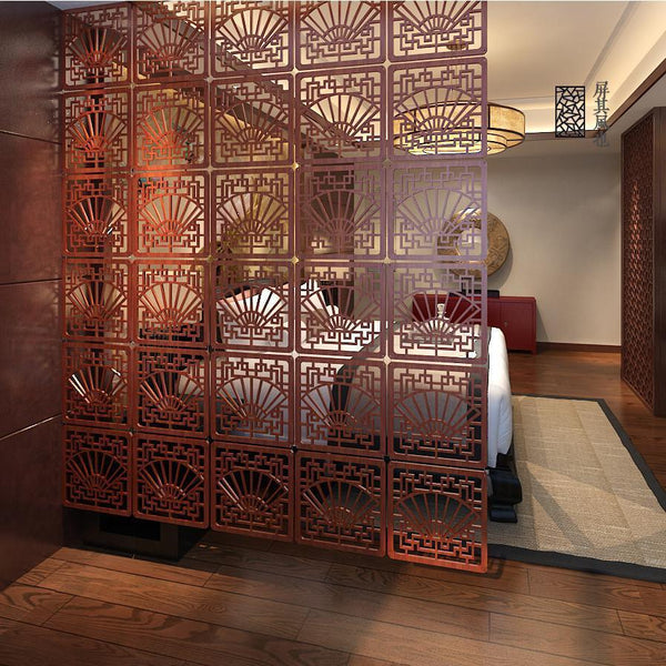 Entranceway Door Hanging Screen 29*29Cm - Wood Carving Vintage Cutout - Fashion Partition Modern Brief Decoration Curtain-DIGDU-DIGDU