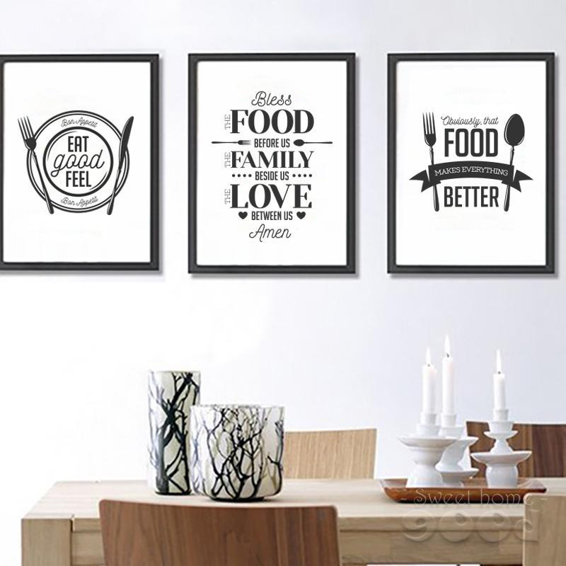 Food Quote Canvas Art Print Poster Wall Pictures For Home Decoration
