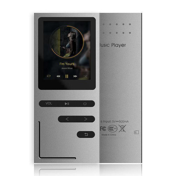 Hifi Metal Mp3 Player Built-In Speaker Ape/Flac/Wav High Sound Quality 8Gb Entry-Level Lossless Music Player With Fm-DIGDU-Silver-8Gb-DIGDU