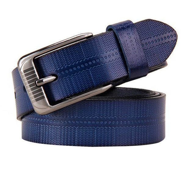 New Belts For Women Second Layer Cow Genuine Leather Fashion Pin Buckle High Quality Woman Belt Luxury Female Strap For Jeans-DIGDU-Blue-100cm-DIGDU