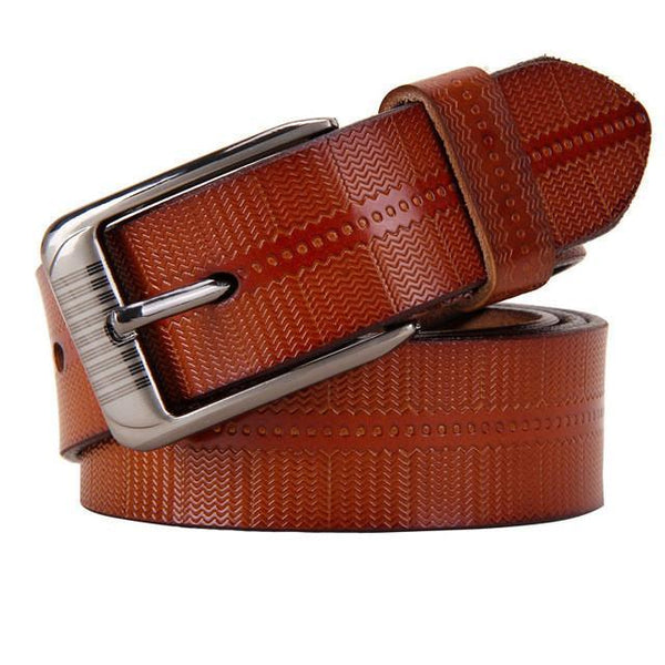 New Belts For Women Second Layer Cow Genuine Leather Fashion Pin Buckle High Quality Woman Belt Luxury Female Strap For Jeans-DIGDU-Brown-100cm-DIGDU