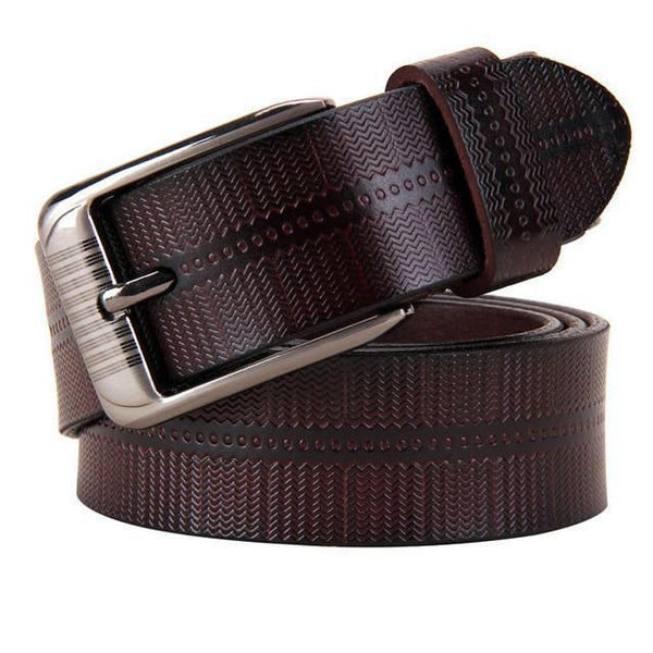 New Belts For Women Second Layer Cow Genuine Leather Fashion Pin Buckle High Quality Woman Belt Luxury Female Strap For Jeans-DIGDU-Coffee-100cm-DIGDU