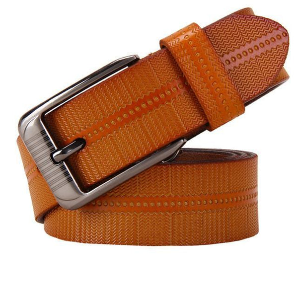New Belts For Women Second Layer Cow Genuine Leather Fashion Pin Buckle High Quality Woman Belt Luxury Female Strap For Jeans-DIGDU-Orange-100cm-DIGDU