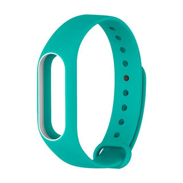 Replace Strap For Xiaomi Mi Band 2 - Silicone Wristbands-DIGDU-Green And White-DIGDU