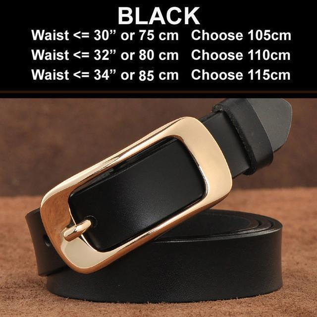 65aebeec002cc San Vitale New Designer Women S Belts Fashion Genuine Leather Brand Strap  Female Waistband Pin Buckles Fancy ...