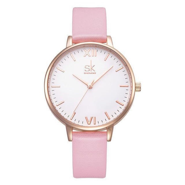 Shengke Women Watches Luxury Brand Wristwatch - Geneva Quartz Clock-DIGDU-Pink-DIGDU
