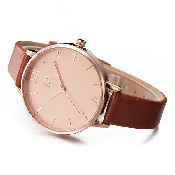 Shengke Women Watches Luxury Brand Wristwatch - Geneva Quartz Clock-DIGDU-DIGDU