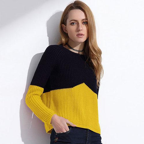 0a8dcba1c3ef9 Sweater Women - Color Splice Sweater For Women