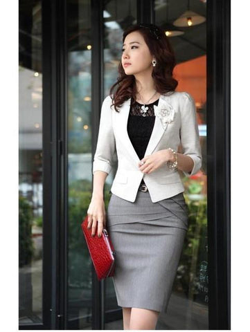 89cb53994b809 Wholesale Retial Spring 3 Color Tailored Slim Hip Knee-Length Cotton Bust  Skirts Suit Women Work Skirt Puls Size Xxl