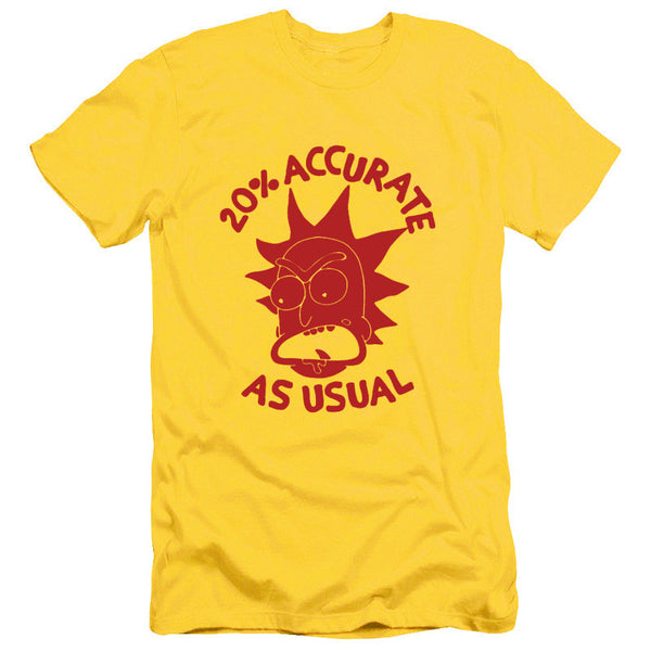 Mens Rick And Morty T-Shirt 20 Percent Accurate