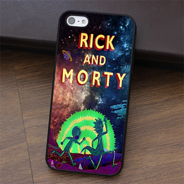 Rick and Morty fashion cell phone case for iphone 4 4s 5 5s 5c SE 6 6s & 6 plus & 6s plus