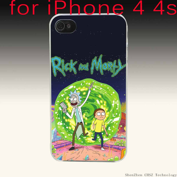 408O Family Love Rick And Morty Cartoon Customized Hard Clear Case Transparent Cover for iPhone 4 4s 5 5s SE 6 6S Plus