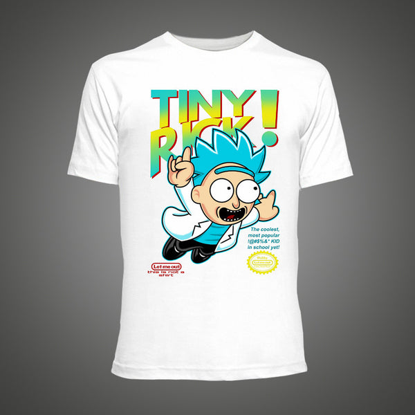 Mens Tiny Rick and Morty T Shirt