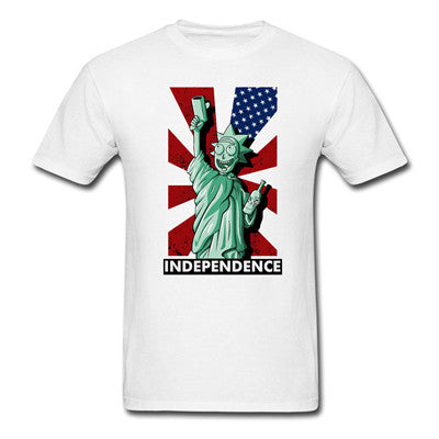 Liberty Rick Morty Sanchez America Independence T Shirts