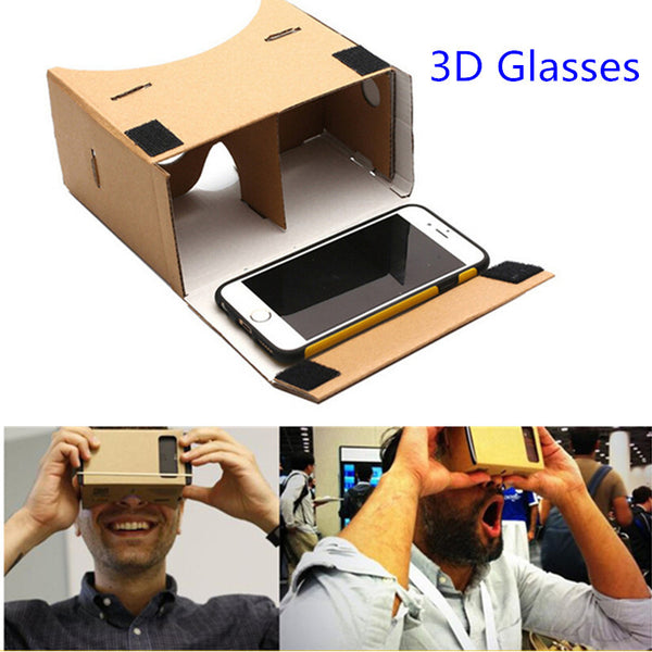 DIY Google Cardboard 3d Glasses Virtual Reality For Iphones