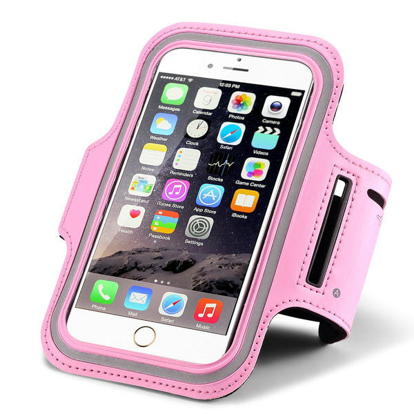 Leather Waterproof Sport Arm Band Case For iPhone & Samsung
