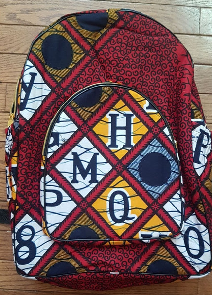 Ankara Backpack in Primary Letters