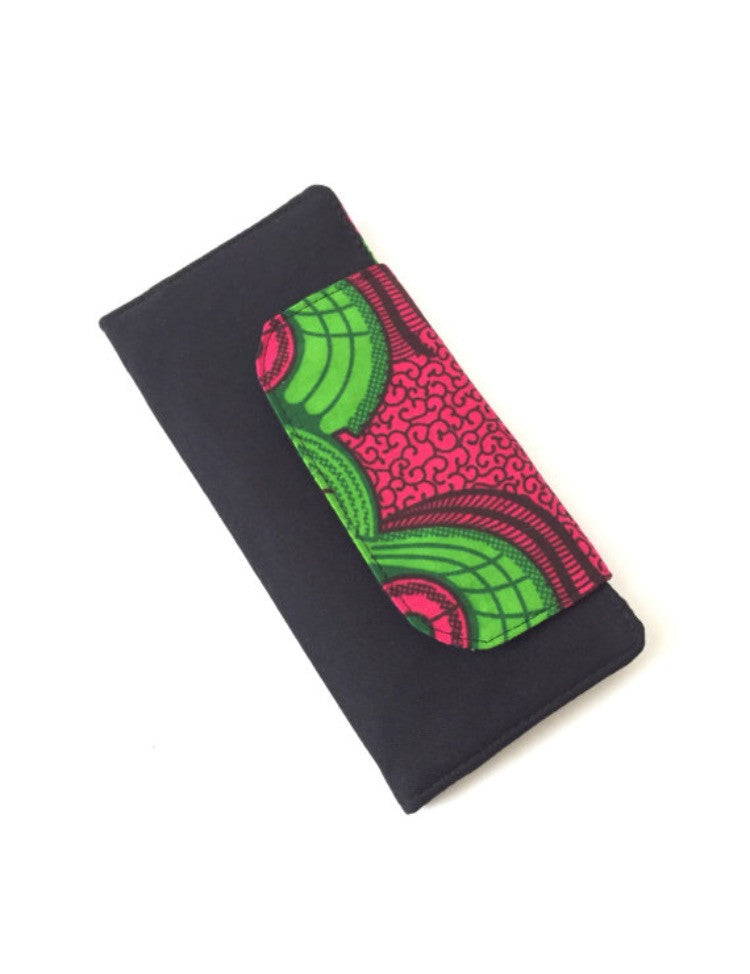 Ankara Wallet in Pink