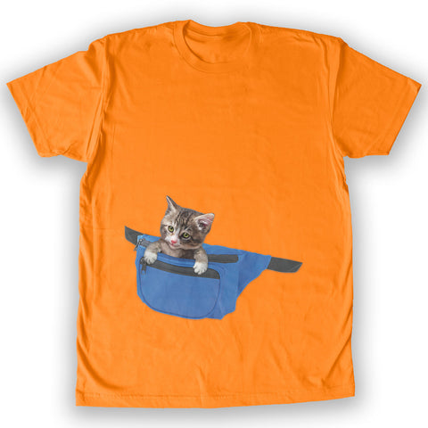 Death By Novelty - Cat Fanny Pack Men's Fashion T-Shirt
