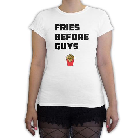 Death By Novelty -  Fries Before Guys Women's Fashion T-Shirt