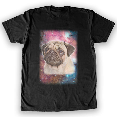 Death By Novelty - Galaxy Pug Men's Fashion T-Shirt
