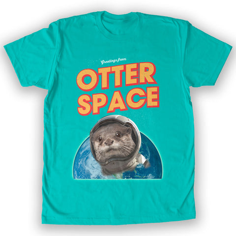 Death By Novelty -  Otter Space Men's Fashion T-Shirt