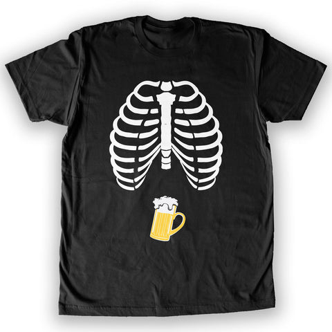 Death By Novelty - Skeleton Beer Belly Men's Fashion T-Shirt