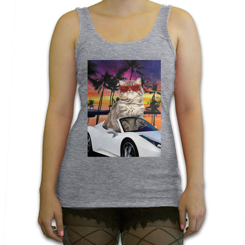 Death By Novelty - Miami Cat Women's Fashion Tank Top