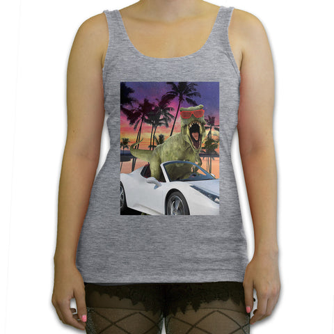 Death By Novelty - Miami T-rex Women's Fashion Tank Top
