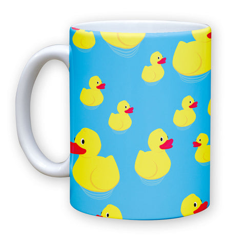 Death By Novelty - Rubber Ducky Pattern 11 oz Coffee Mug