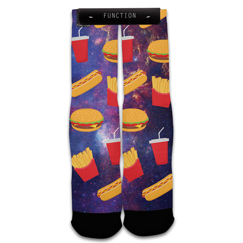 Fast Food Galaxy Fashion Socks