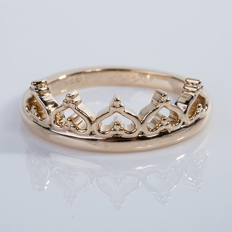 Crown of Hearts Ring