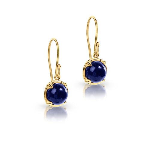 Lapis hook earrings