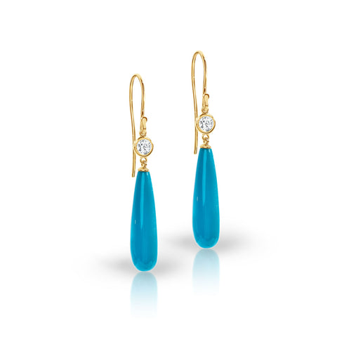 Turquoise drop hook earrings