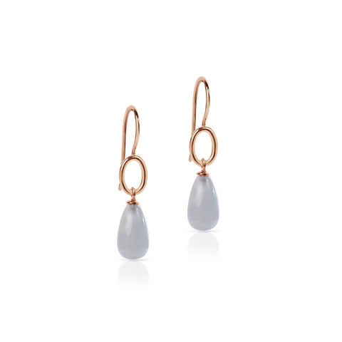 Moonstone drop hook earrings