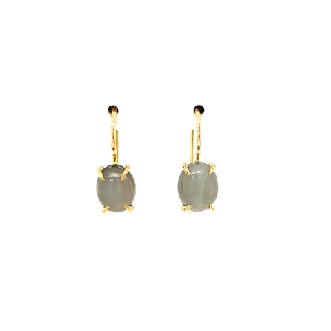 Grey Moonstone Earrings YG