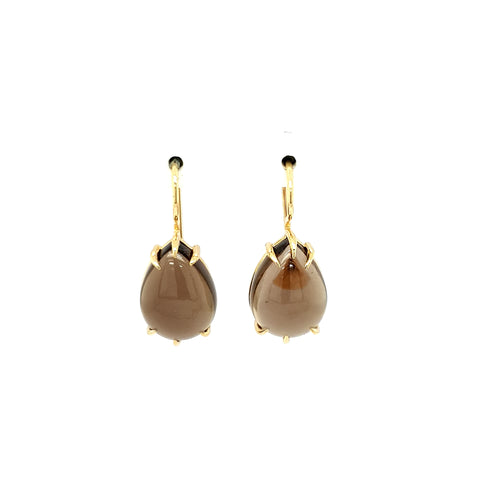 Smokey Quartz Earrings YG