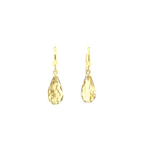 Whiskey Quartz Earring