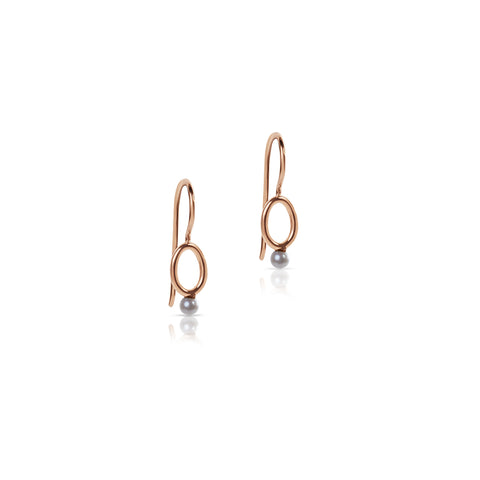 Seed Pearl drop hook earrings