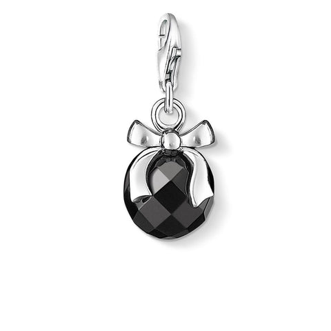 "CHARM PENDANT ""STONE WITH BOW"""