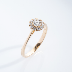 Diamond halo ring 001-00929