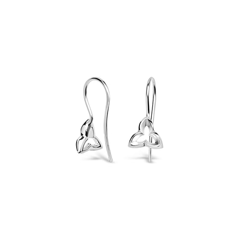 Wild Iris drop earrings #3 in silver