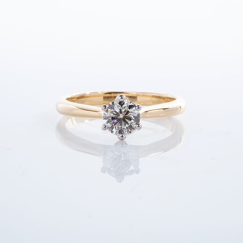Diamond Solitaire Ring 001-01375