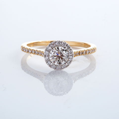 Diamond Halo Ring 001-01371