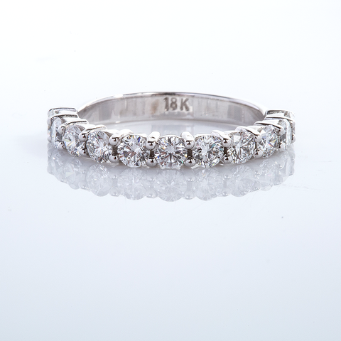 White gold diamond band005-00412