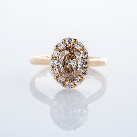 Champagne Diamond Ring  001-01347